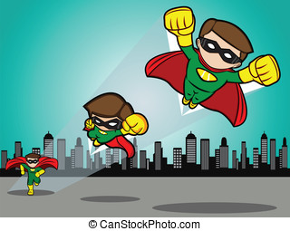 Superhero Take Off - An illustration of a superhero running...