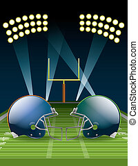 Football Championship - Illustration of american football...