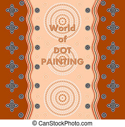 An illustration based on aboriginal style of dot painting...