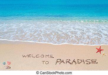 herzlich willkommen, paradies