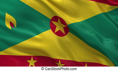 Flag of Grenada - seamless loop - Flag of Grenada gently...