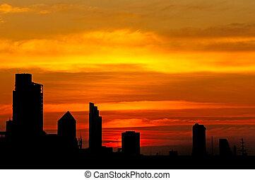sundown - Sundown in Bangkok city, Thailand
