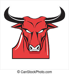 Bold Red Bull - suitable for team identity, sport club logo...