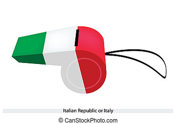 A Whistle of The Italian Republic or Italy - An Illustration...