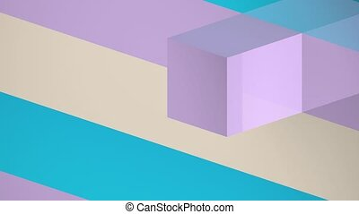 Cubes Animation Background - Cubes Movement Isometric...