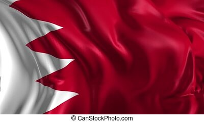 Flag of Bahrain - Beautiful 3d animation of Bahrain flag in...