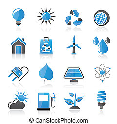 Ecology and environment Icons - Ecology, nature and...
