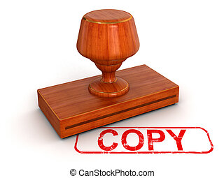 Rubber Stamp copy  - Rubber Stamp.  Image with clipping path