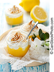 Lemon Meringue Dessert - Lemon curd dessert with meringue...