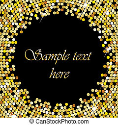 Gold frame with space for your text