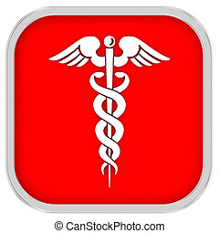 Caduceus Sign on a white background. part of a series.