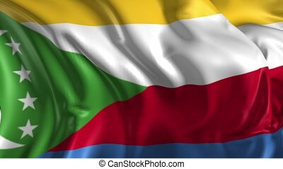 Flag of Comoros - Beautiful 3d animation of Comoros flag in...