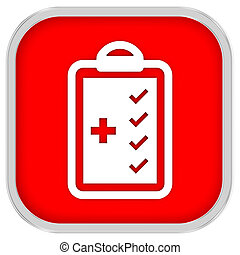 Medical Checklist Sign - Medical Checklist sign on a white...