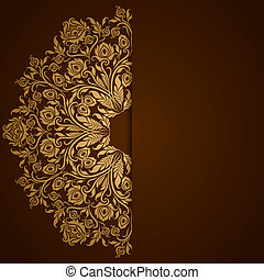 Elegant background with lace ornament and place for text....