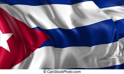 Flag of Cuba - Beautiful 3d animation of Cuba flag in loop...