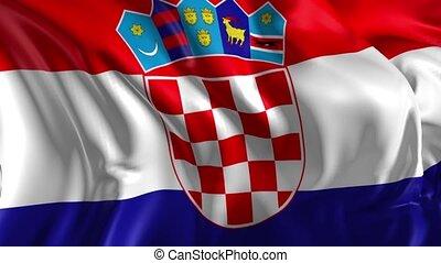 Flag of Croatia - Beautiful 3d animation Croatia flag in...