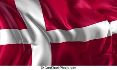 Flag of Denmark - Beautiful 3d animation of Denmark flag in...