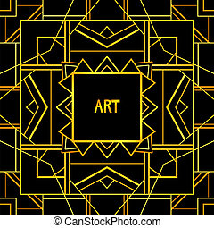 Abstract geometric art patterned background (1920's style)....