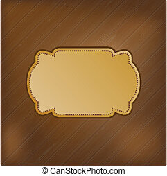 Dark striped background with golden frame for your text.