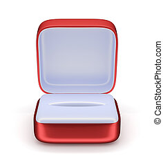 jewelry box - 3d render of empty gift jewelry box Isolated...