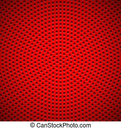 Red Background with Circle Perforated Pattern - Red abstract...