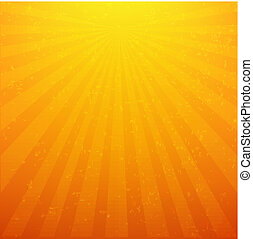 Sunburst Background With Rays, With Gradient Mesh, Vector...