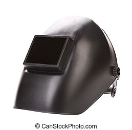 Side view of welding mask.