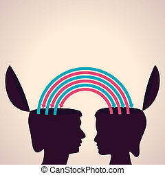 exchanging thoughts with each other concept stock vector