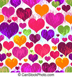 Vivid motley seamless valentine pattern - Vivid motley...