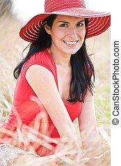 Beautiful hispanic woman - A beautiful hispanic woman...