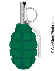 Grenade on a white background Vector illustration EPS-10
