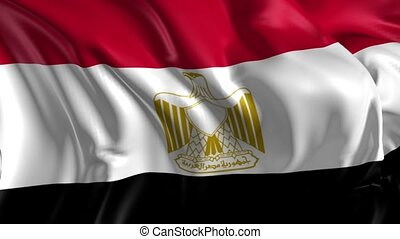 Flag of Egypt - Beautiful 3d animation of Egypt flag in loop...