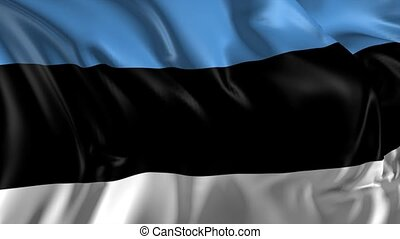 Flag of Estonia - Beautiful 3d animation of Estonia flag in...
