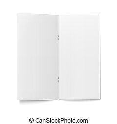 Booklet template on white background - Empty bifold booklet...