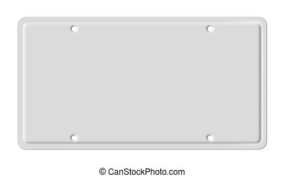 Blank car plate - Illustration of isolated blank vehicle car...