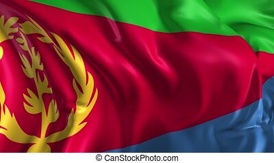 Flag of Eritrea - Beautiful 3d animation of Eritrea flag in...