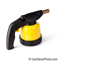 Blowtorch - manual gas burner on a white background