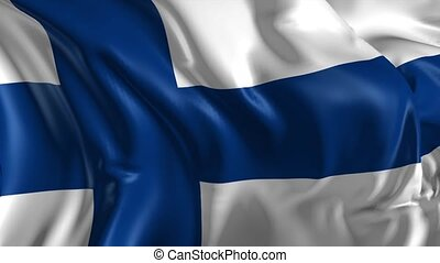 Flag of Finland - Beautiful 3d animation of Finland flag in...