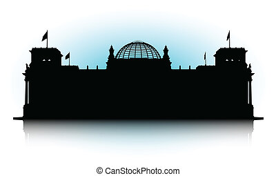 Reichstag - An abstract vector illustration of the Reichstag...