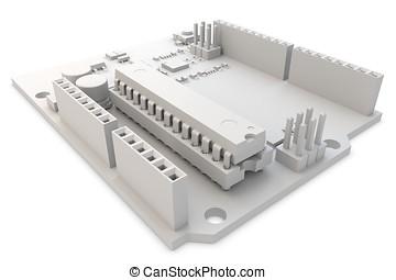 3d generic electronic circuit board