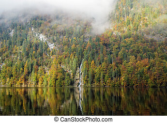 Konigssee lake, Germany - The Konigssee is a natural lake...