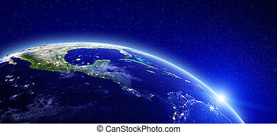 City lights - Central America. Elements of this image...