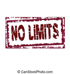 NO LIMITS - STAMP WHIT TEXT NO LIMITS VECTOR ILLUSTRATION