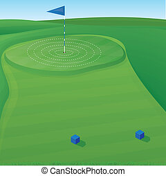 Golf Target Illustration - Golf course background...
