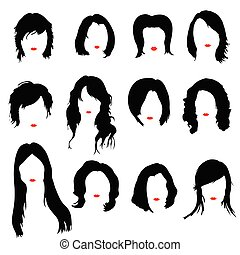 hairstyles color vector illustration