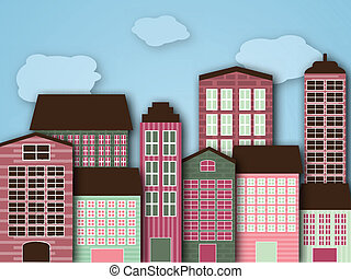 Cartoon city