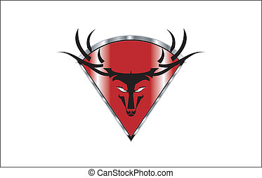 Wild Buck Head Icon - suitable for team identity, sport club...