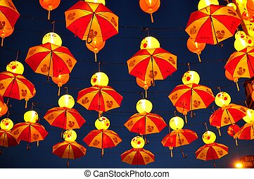 Chinese Lanterns - Chinese lanterns which are lit up during...