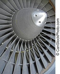Jet engine - Close-up of the blades of a jet engine