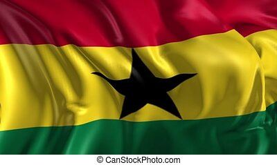 Flag of Ghana - Beautiful 3d animation of Ghana flag in loop...